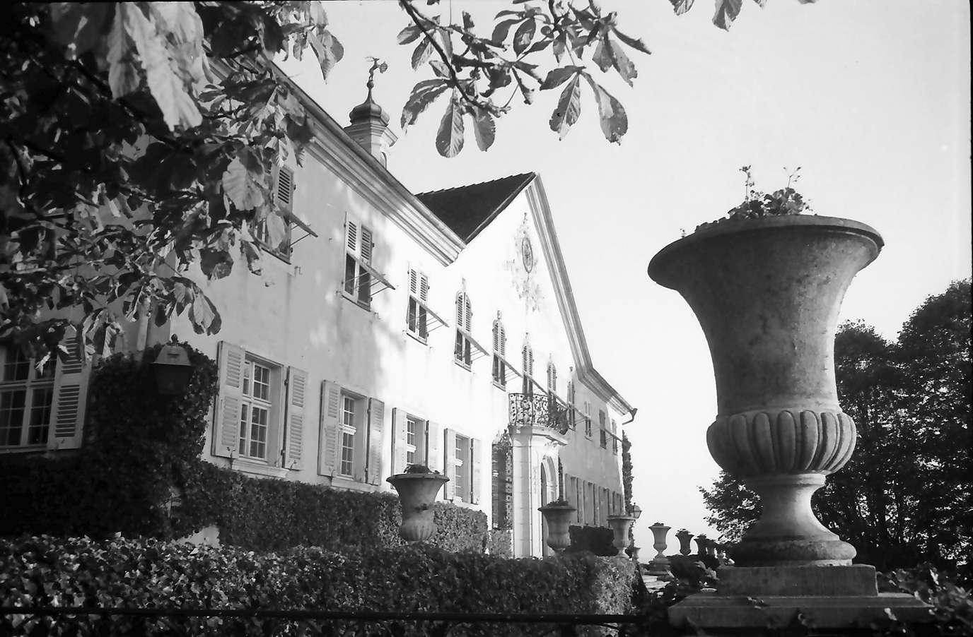 Schliengen: Schloss Bürgeln; Seitenansicht mit Vase, Bild 1