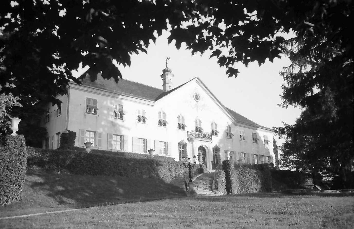 Schliengen: Schloss Bürgeln; Außenansicht mit Vordergrund, Bild 1