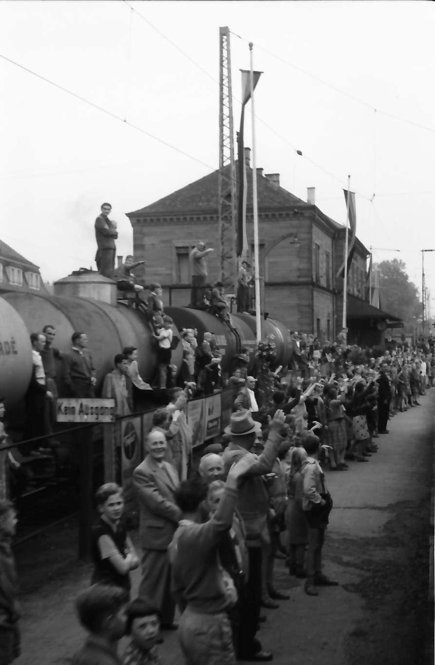 Emmendingen: Empfang im Bahnhof, Abfahrt, Bild 1