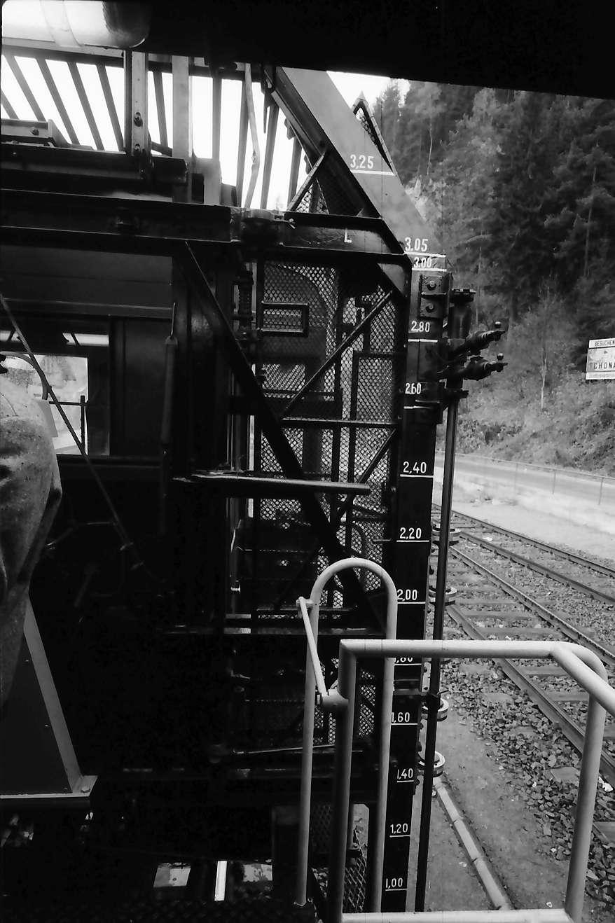 Triberg: Abtaststangen des Messwagens, Bild 1