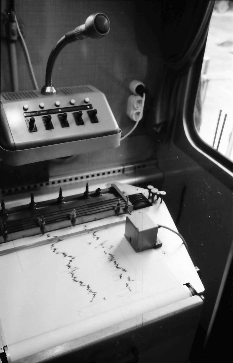 Triberg: Registrierpult mit Aufzeichnugsgerät, Bild 1