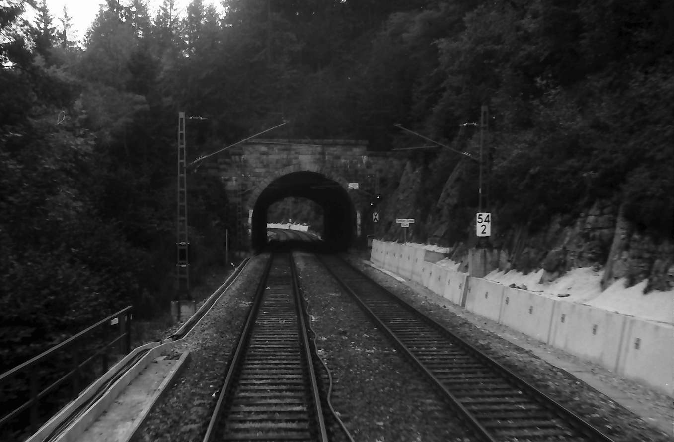 Triberg: Tunnelstrecke bei Triberg [Forellen-Tunnel], Bild 1