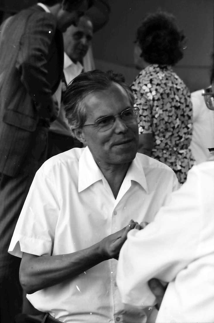 26. Tagung 1976 Physiker; Aufbruch zur Mainau: Porträt Rudolf L. Mößbauer, Bild 1