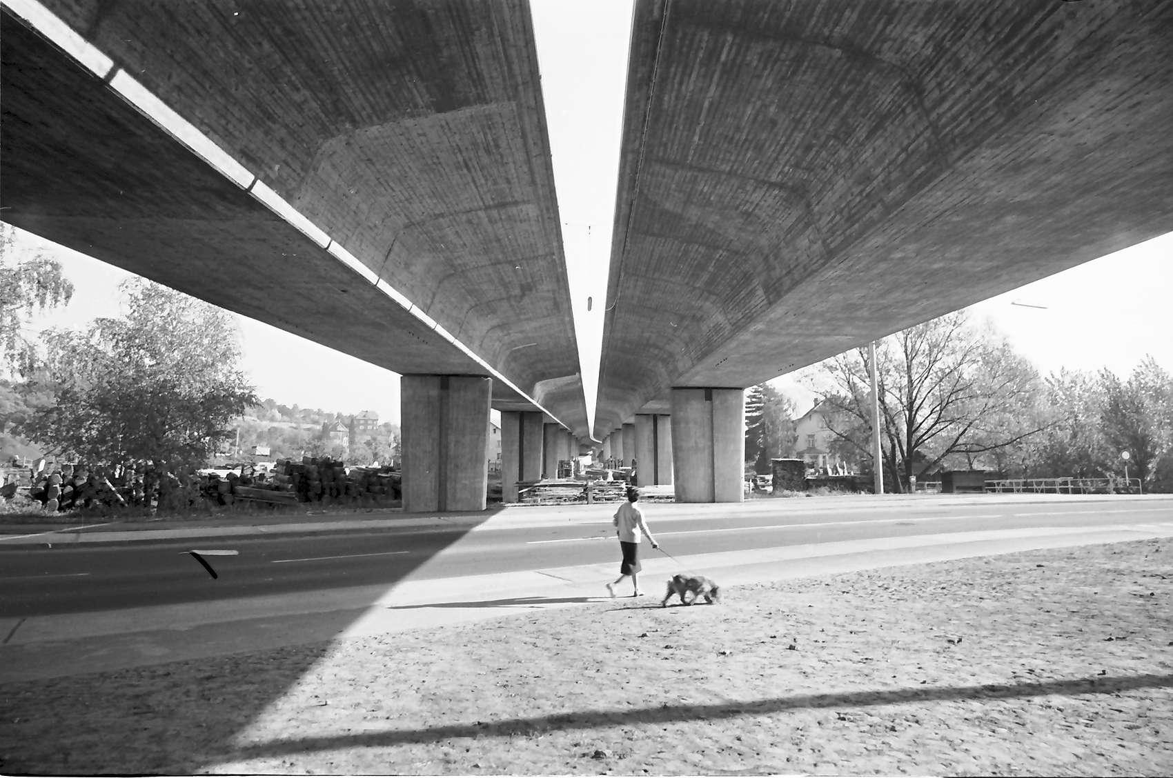 Baden-Oos: Autobahnzubringerrampe; Stützen der Rampe (unten), Bild 1