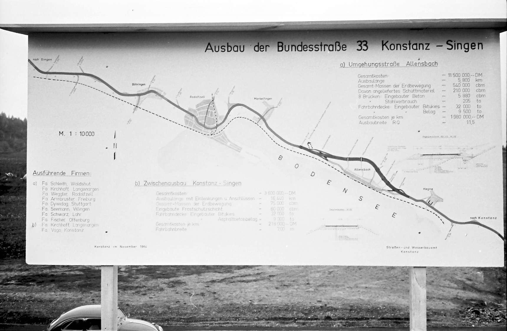 Allensbach: Umgehungsstraße, Plan, Bild 1