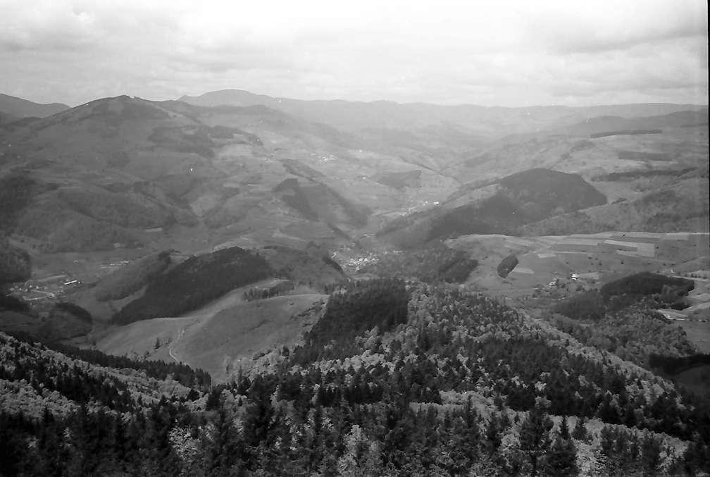 Zell im Wiesental: Aussicht von der Hohen Möhr; ohne Vordergrund (Wiesental), Bild 1