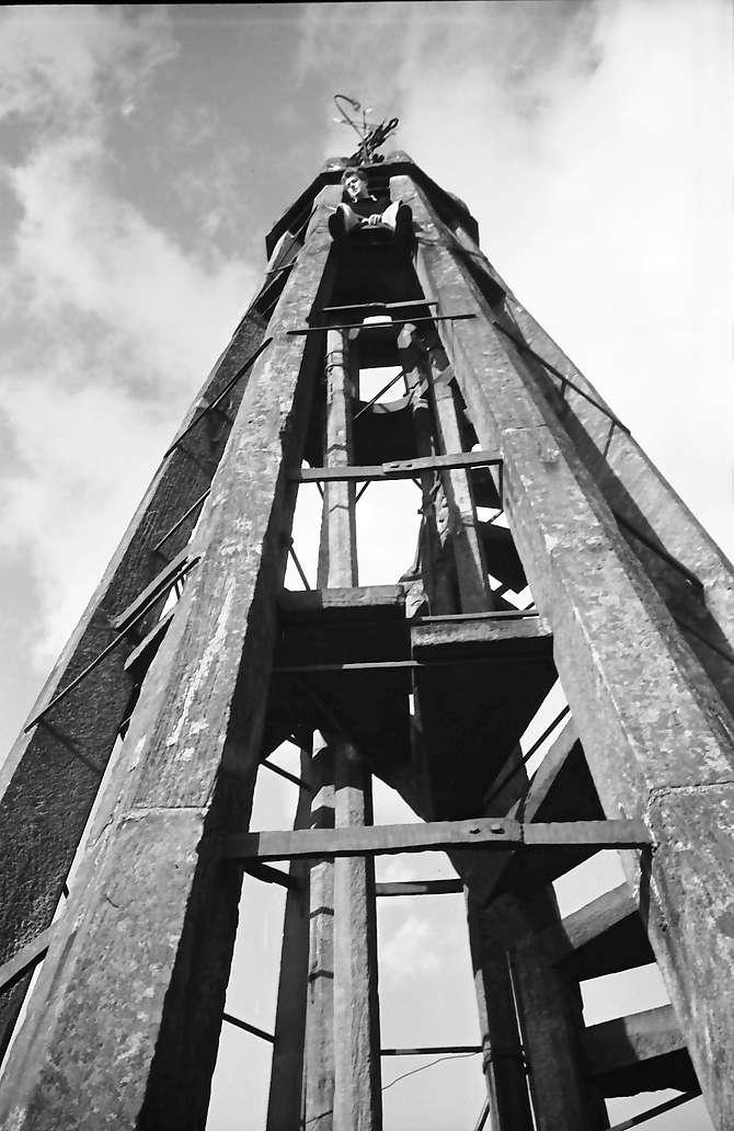 Denzlingen: Turmpyramide mit Niki, Bild 1