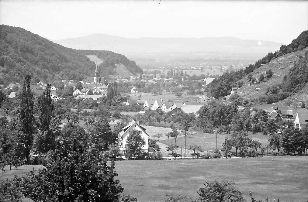 Oberglottertal: Blick ins Glottertal; Hintergrund Kaiserstuhl, Bild 1
