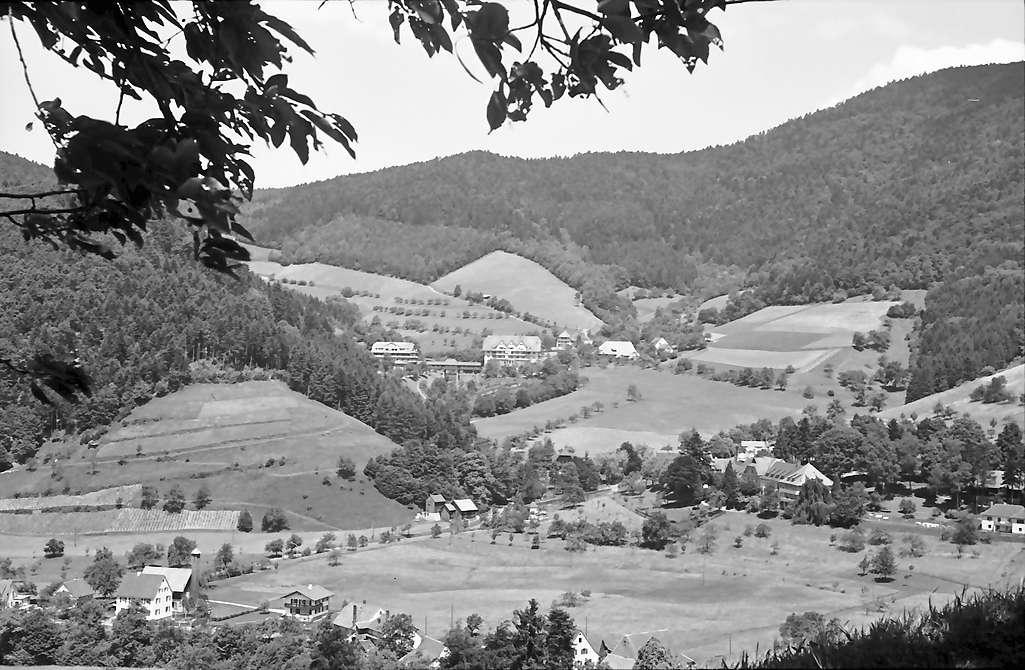 Oberglottertal: Blick ins Glottertal zum Glotterbad, Bild 1