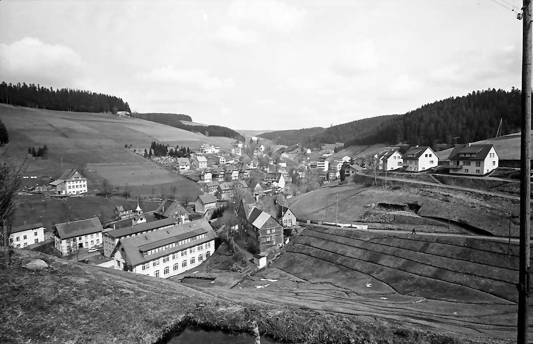 Gütenbach: Blick von oben auf den Ort, Bild 1