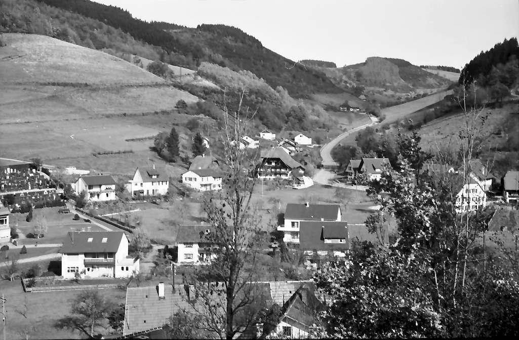Oberprechtal: Von der Höhe auf Ort und Straße zum Landwassereck, Bild 1