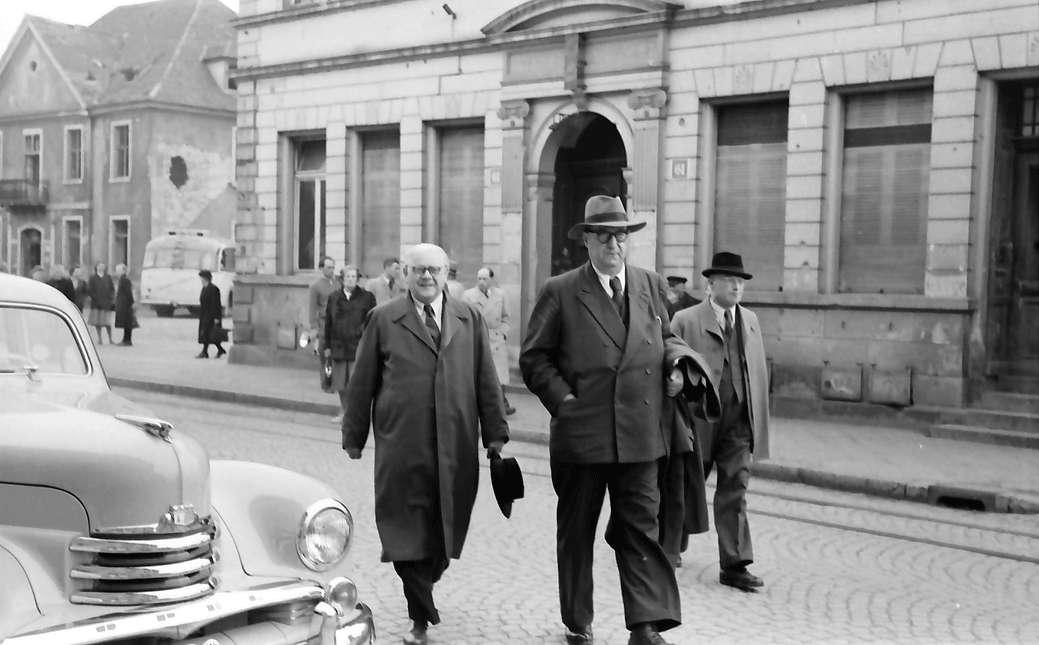 Kehl: Bundestagsabgeordnete Höfler und Rümmele bei Besichtigungsrundgang, Bild 1