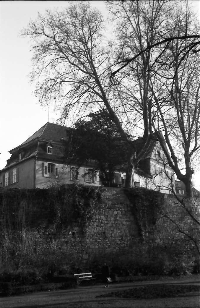 Kehl: Schloss vom Stadtgraben und Rheinbrücke, Bild 1