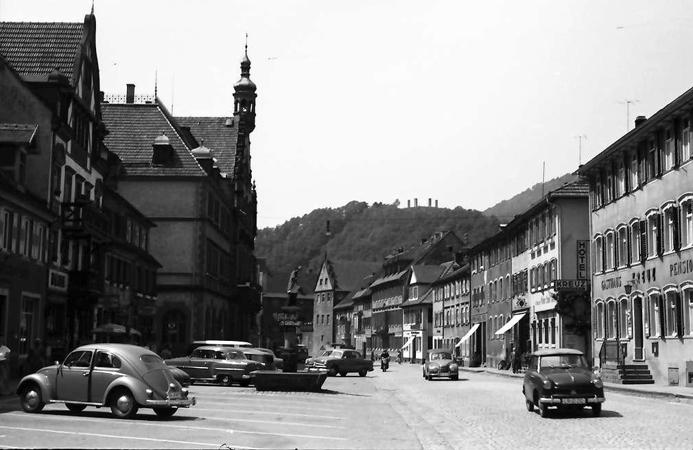 Wolfach: Hauptstraße von Norden, Bild 1