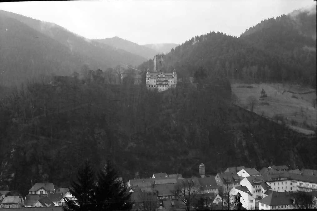 Hornberg: Burg Hornberg; von der Bahnhofseite aus, Bild 1