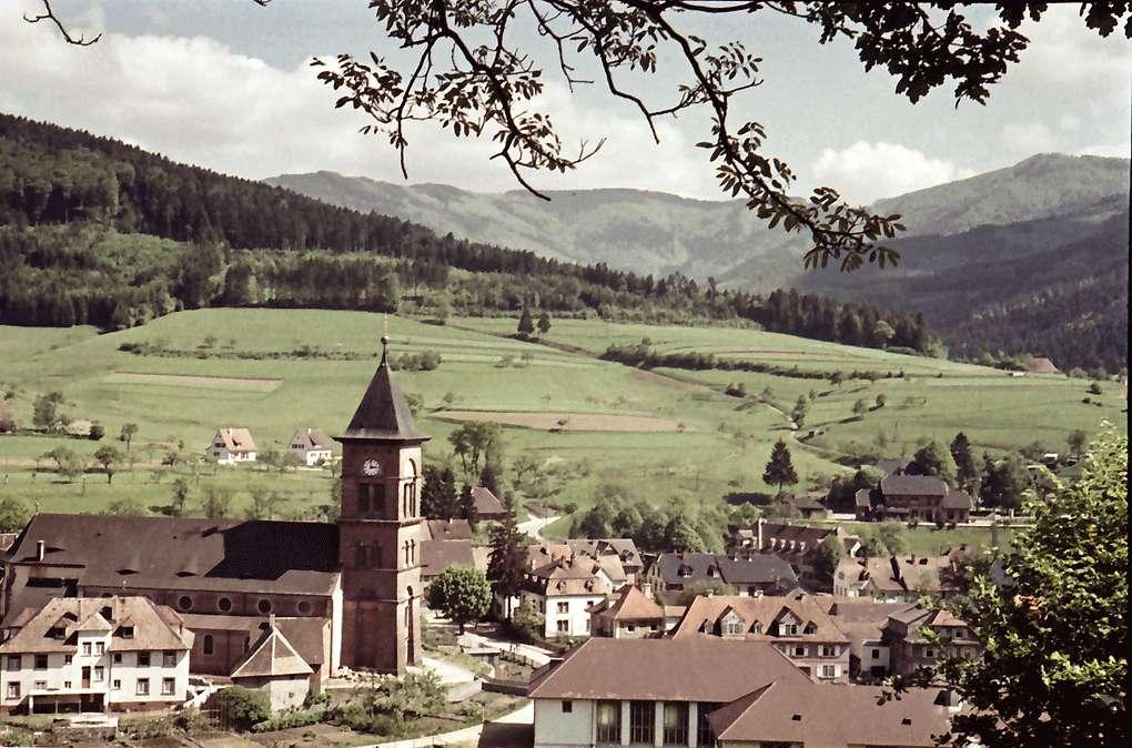 Elzach: Von der Höhe auf Kirche und Ort, Bild 1