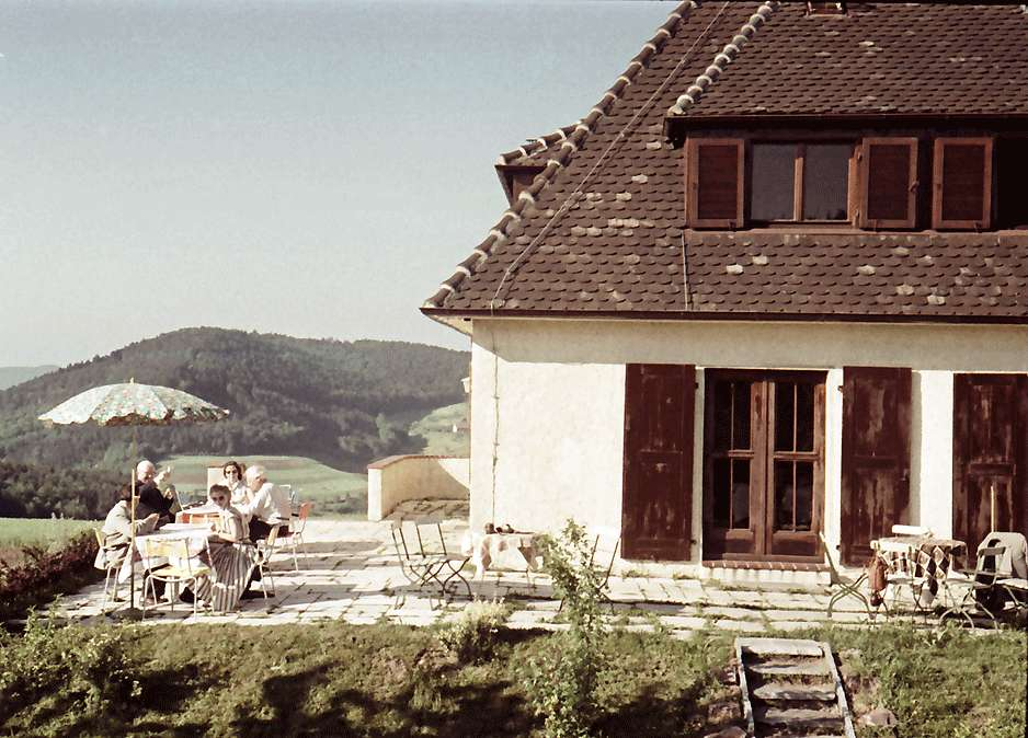 Pflingsteck; Freiamt: Terrasse des Passhöhenhotels, Bild 1