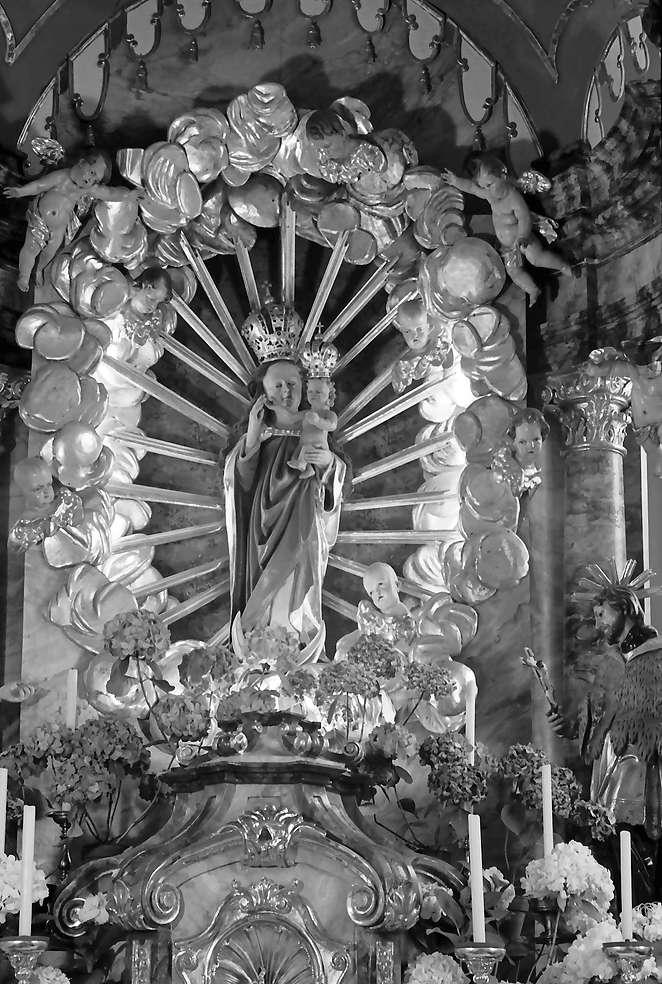 Herbolzheim: Wallfahrtskirche Maria Sand; Marienbild allein, Bild 1