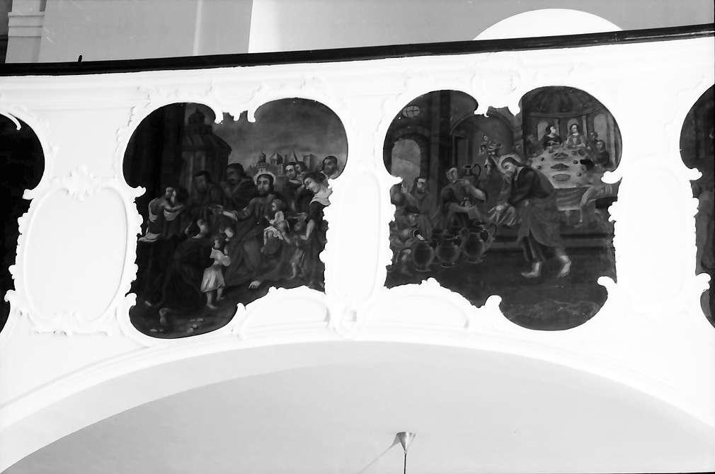 Meißenheim: Deckengemälde; Ausschnitt: Gemälde der Balustrade, Bild 1