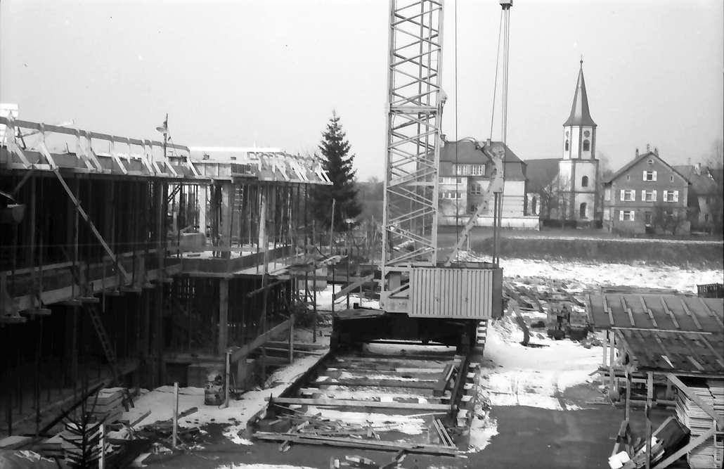Freistett: Neubau Schule und Turm der Evangelischen Kirche, Bild 1