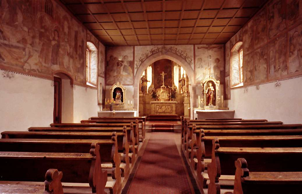 Ortenberg: Kirche Käfersberg; innen, Bild 1