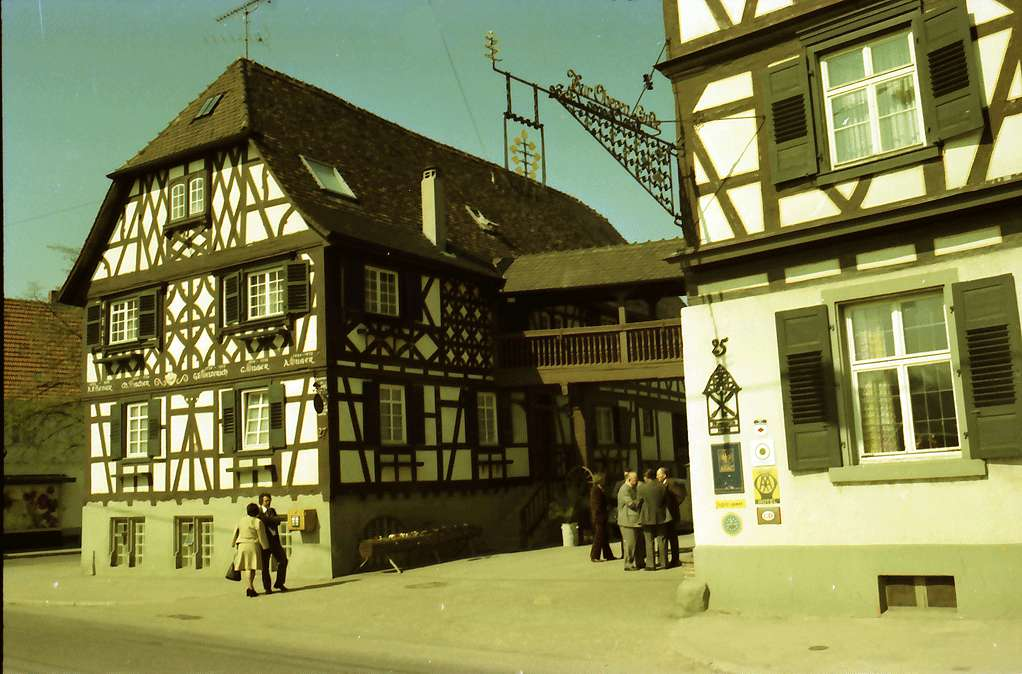 Oberkirch: Historischer Gasthof Obere Linde; Giebelhaus, Bild 1