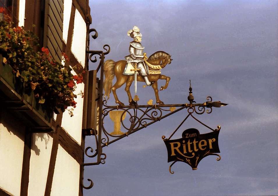 Durbach: Hotel - Gasthaus Ritter; Wirtshausschild, Bild 1