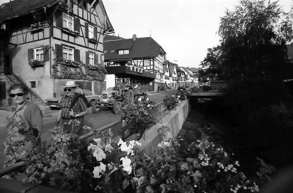 Durbach: Hauptstraße mit Blumenbrücken, Bild 1