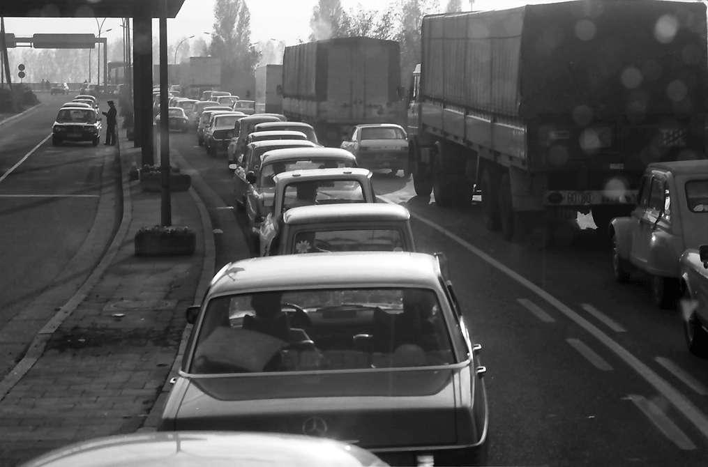 Kehl: Verkehr am deutschen Zollamt, Bild 1