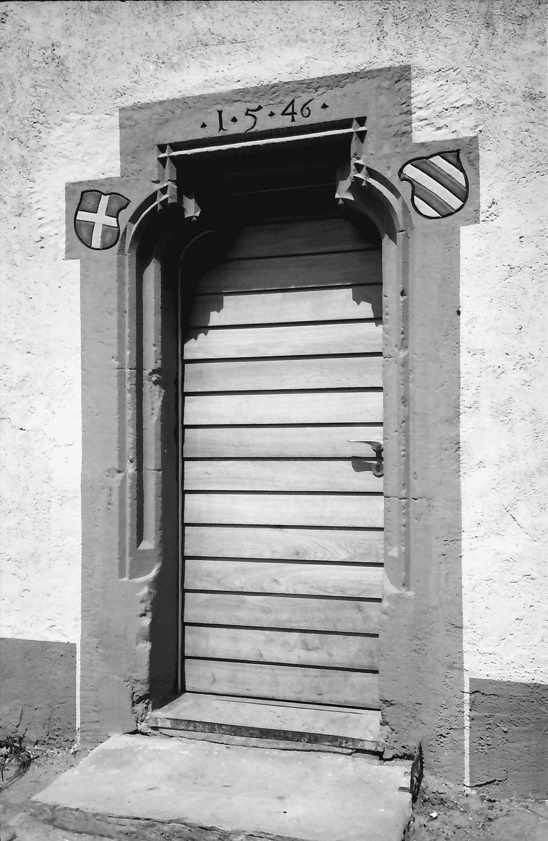 Heitersheim: Außenportal im Ritterhaus, Bild 1