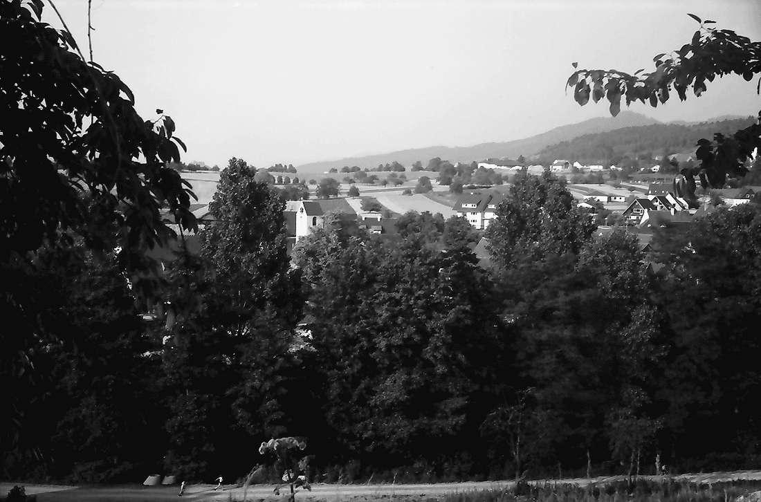 Dottingen: Gemeinde mit Kirchturm; von Süden, Bild 2