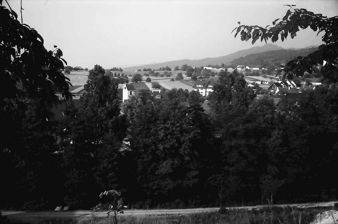 Dottingen: Gemeinde mit Kirchturm; von Süden, Bild 1