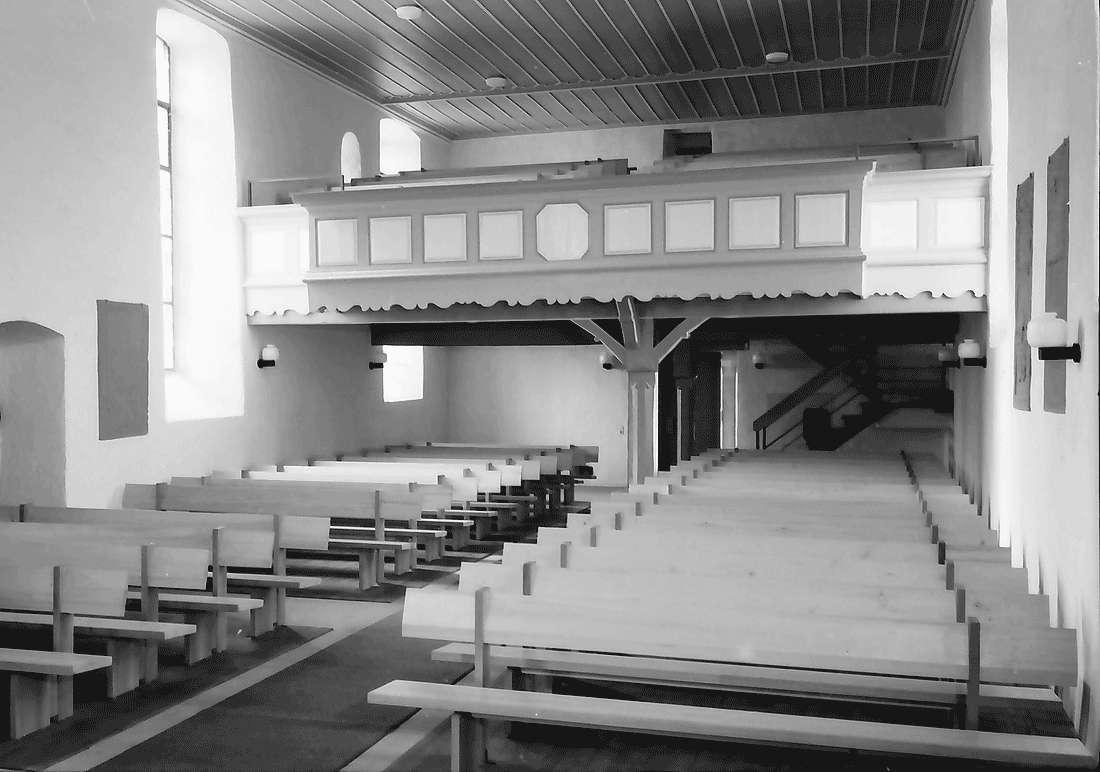 Betberg: Evangelische Kirche nach der Renovierung; Empore, Bild 2