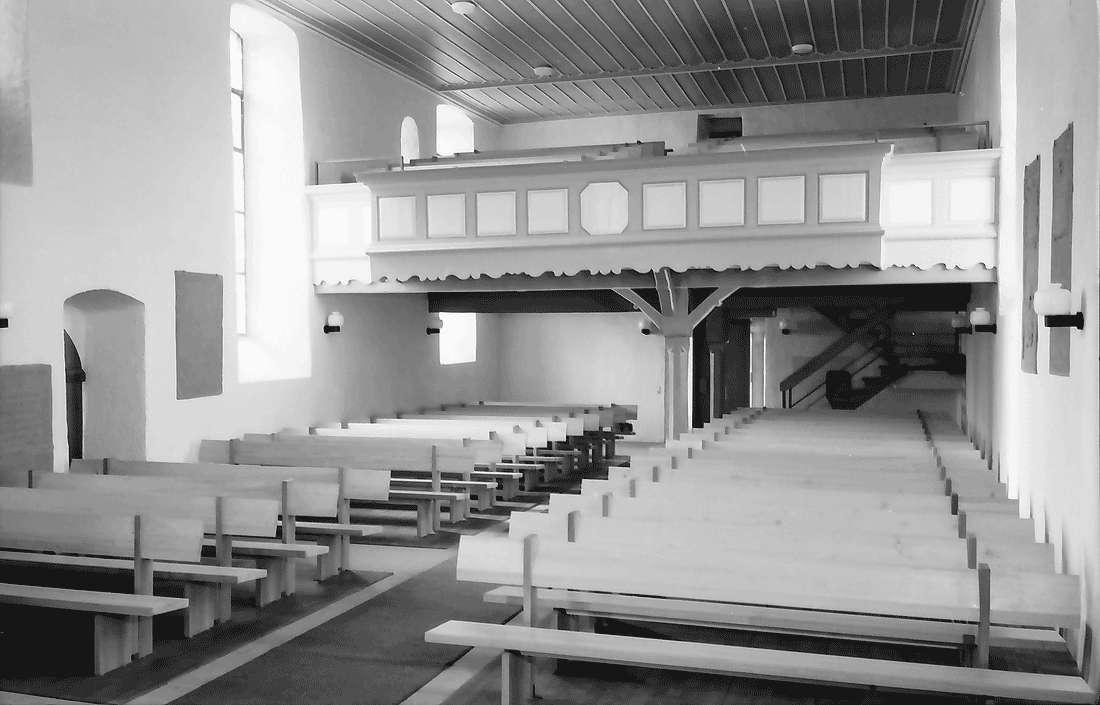 Betberg: Evangelische Kirche nach der Renovierung; Empore, Bild 1