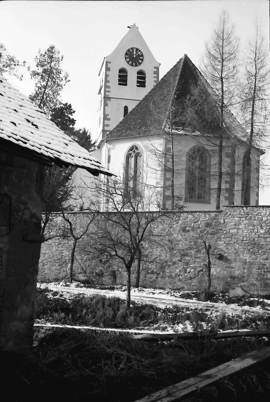 Betberg: Evangelische Kirche nach der Renovierung; außen; Chor, Bild 2
