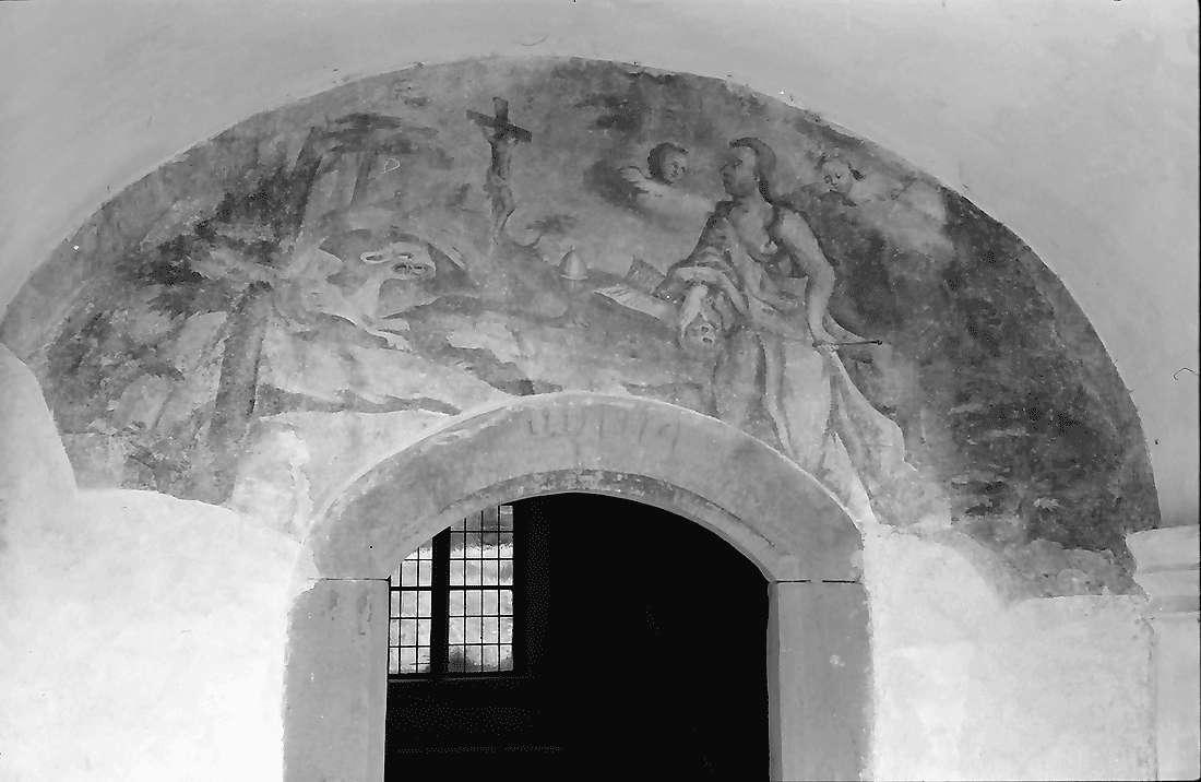 Staufen: Magdalenenkapelle; Fresko am Eingang, Bild 2