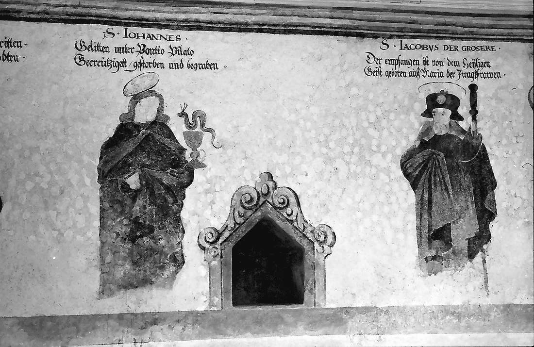 Staufen: Magdalenenkapelle; Fresken (innen), Bild 1
