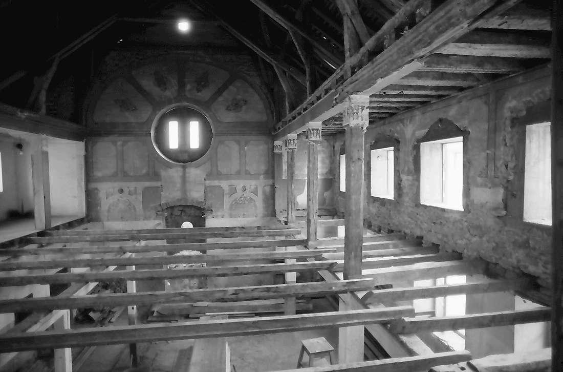 Sulzburg: Synagoge vor dem Wiederaufbau; innen, Bild 1
