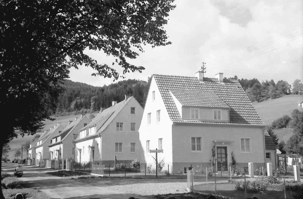 Freiburg; Kappel: Kreisbaugenossenschaft; Siedlung Kapplertal; Straße, Bild 1