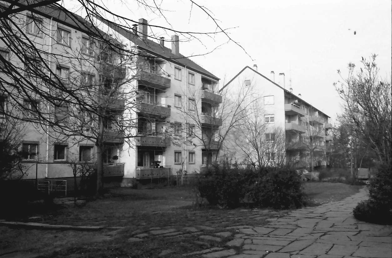 Freiburg; Stühlinger: Wohnhäuser des Bauvereins; Antoniterstraße, Bild 1