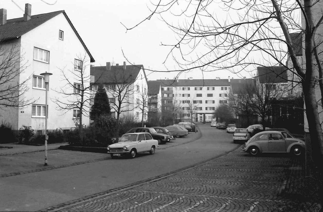 Freiburg; Stühlinger: Wohnhäuser des Bauvereins; Schenkstraße, Bild 1