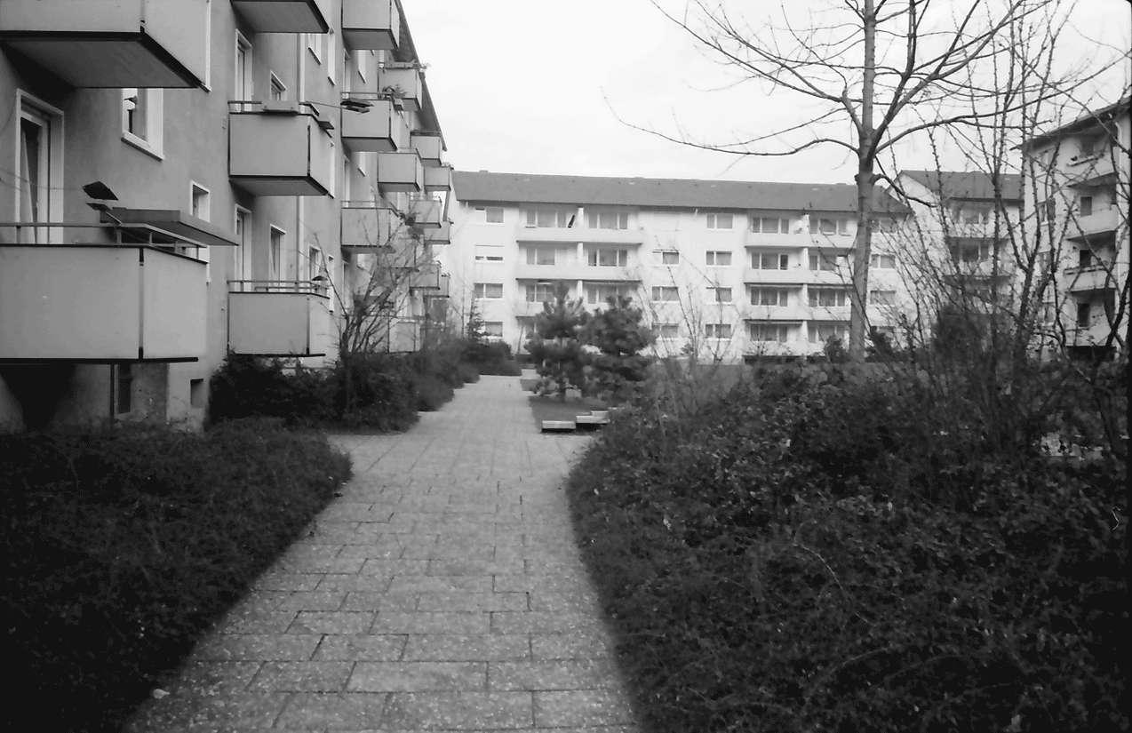 Freiburg; Haslach: Wohnblock; Mathias-Blank-Siedlung, Bild 1