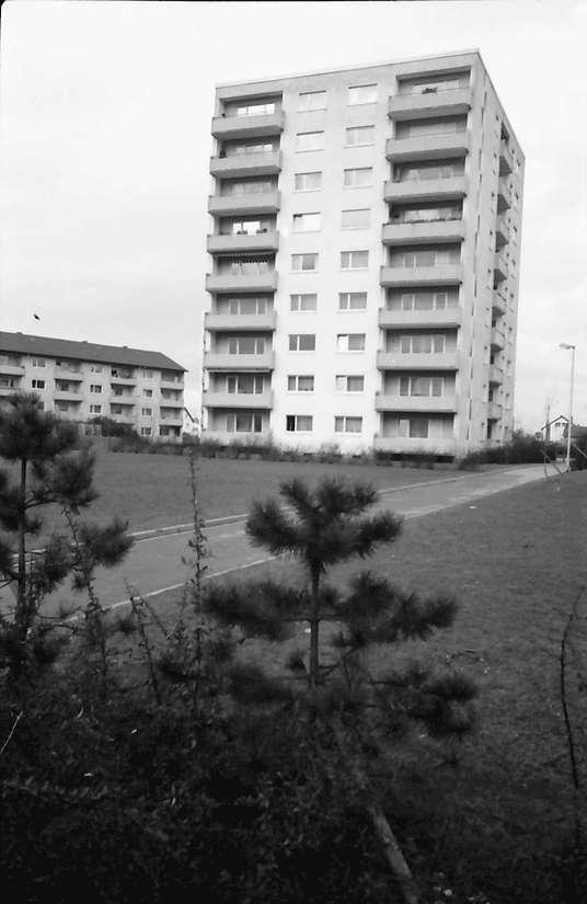 Freiburg; Haslach: Wohnblock; Hochhaus, Mathias-Blank-Siedlung, Bild 1
