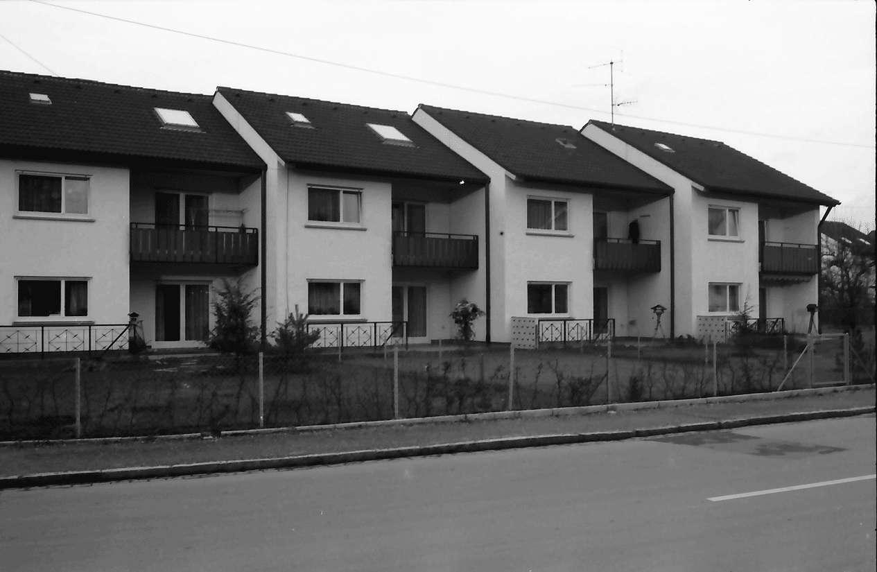 Freiburg; St. Georgen: Reihen Eigentumshäuser; Obergasse, Bild 1