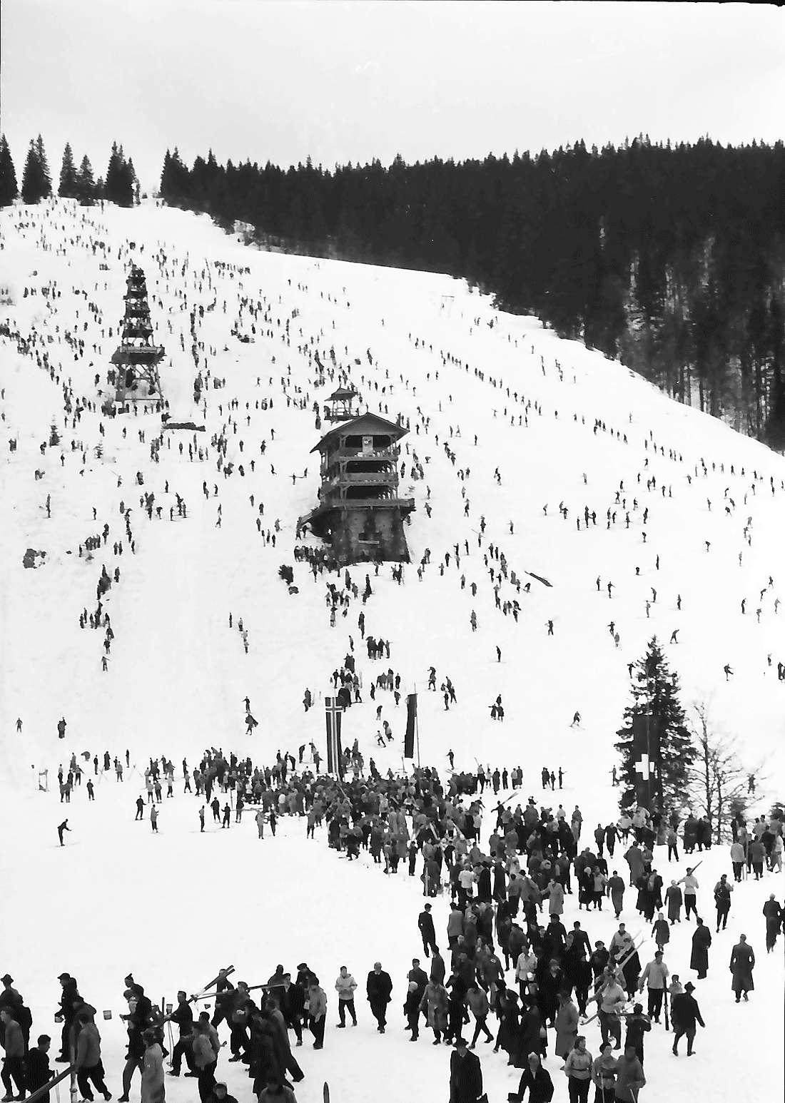 Feldberg: Sprungschanze im Fahler Loch; von der Straße, Bild 2