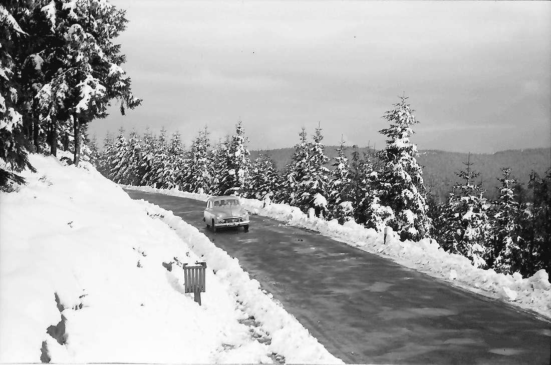 Hornisgrinde: Schwarzwaldhochstraße im Schnee, Bild 1