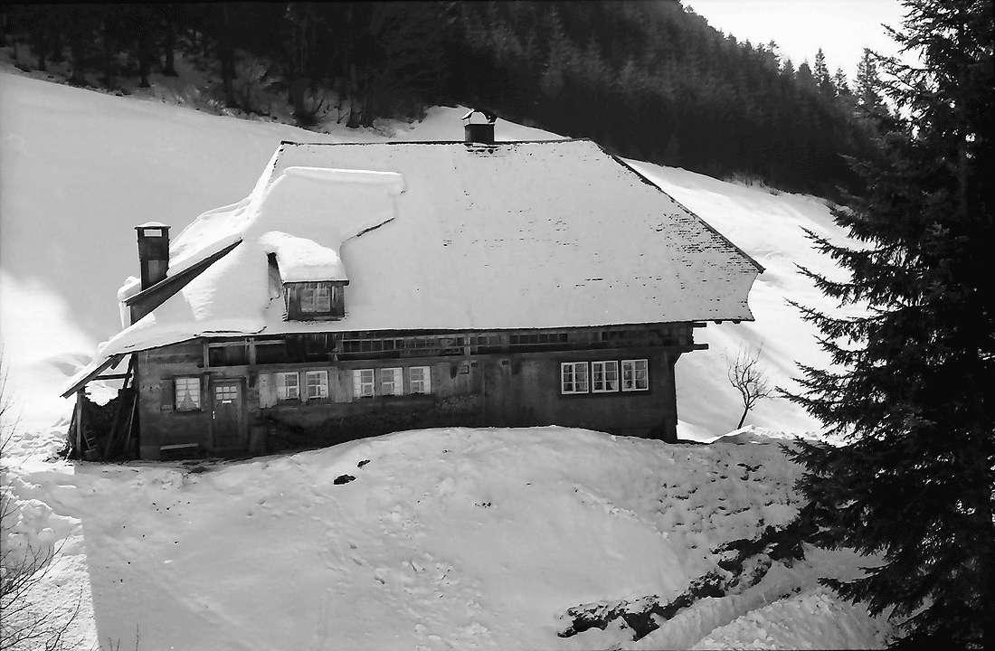 Todtmoos: Altes Schwarzwaldhaus am Hang, Bild 2