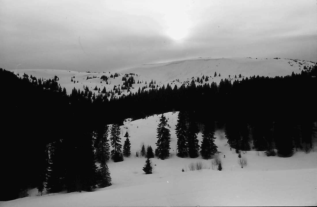 Rinken: Sonne im Nebel; über dem Feldberg, Bild 2
