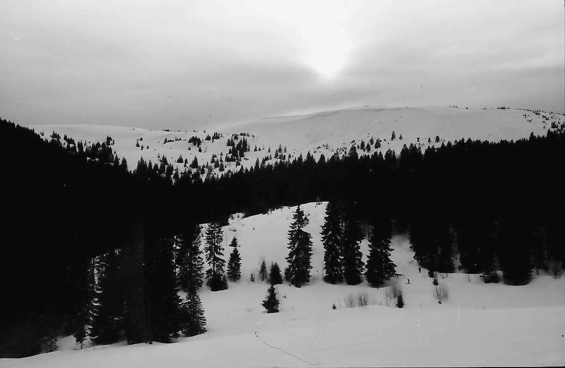 Rinken: Sonne im Nebel; über dem Feldberg, Bild 1