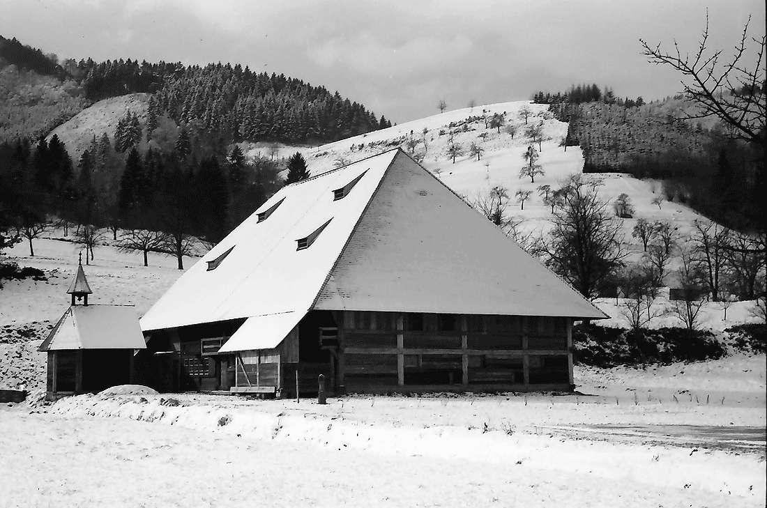 Gutach: Hippenseppenhof; Freilichtmuseum im Schnee, Bild 1